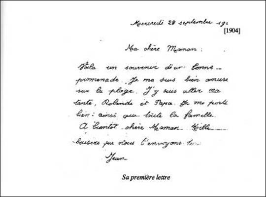 exemple de lettre de changement de classe JEAN, classe 1915 ou Lettres volées à l'oubli exemple de lettre de changement de classe