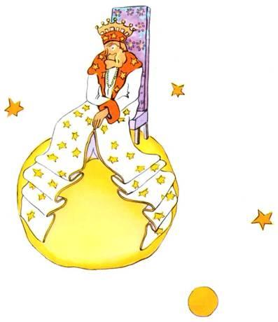 Le roi de la planète 325 du petit prince